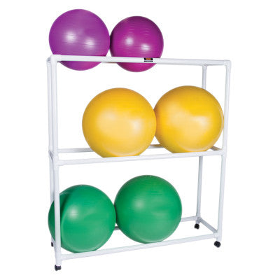 Inflatable Exercise Ball - Accessory - PVC Mobile Floor Rack, 62
