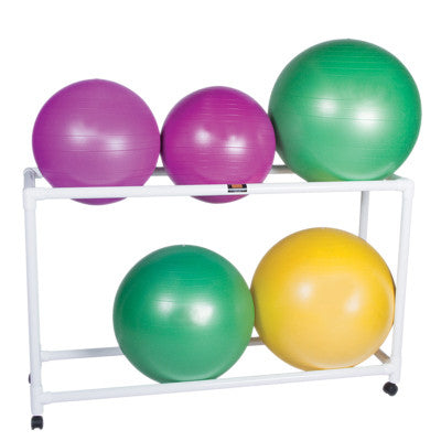nflatable Exercise Ball - Accessory - PVC Stationary Floor Rack, 62