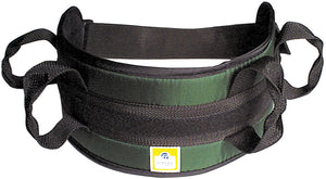 Padded transfer belt, auto buckle, large, black
