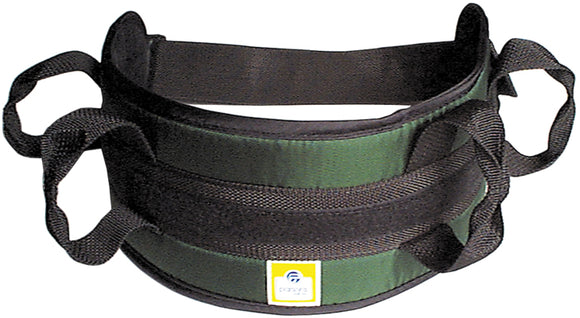 Padded transfer belt, auto buckle, medium, green