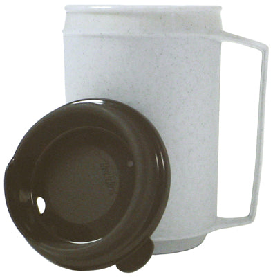 Insulated mug, no-spill lid12 oz.