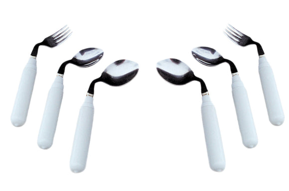 Utensil, comfort grip, 3 oz. Right handed fork