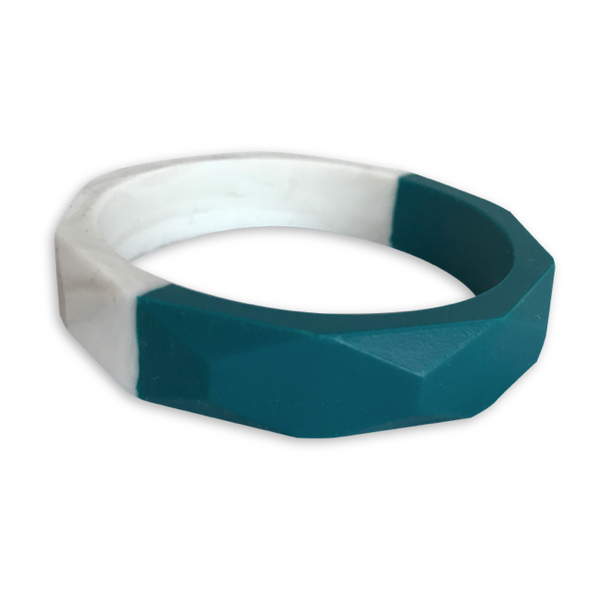 Amelia Spruce + Warm Marble Teething Bangle- Factory Second Teething Bangle- Mama + Belle