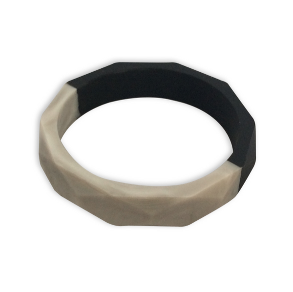 Amelia Black + Marble Teething Bangle- Factory Second Teething Bangle- Mama + Belle
