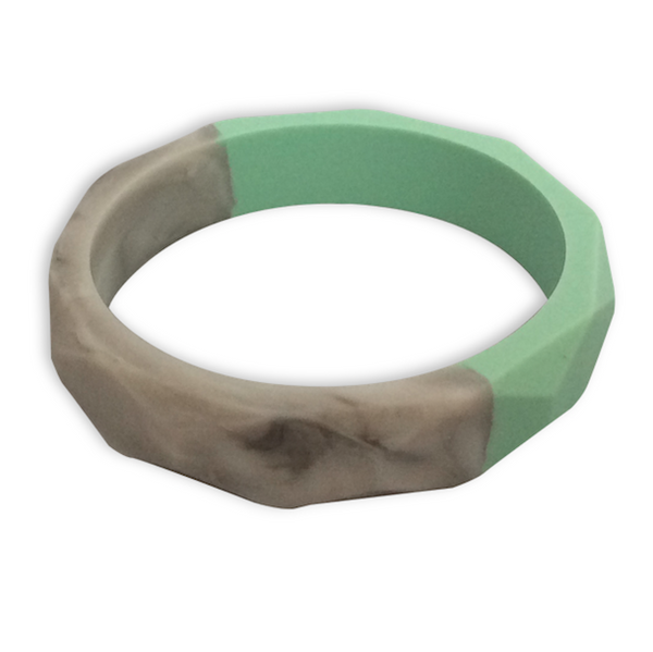Amelia Mint + Marble Teething Bangle Teething Bangle- Mama + Belle