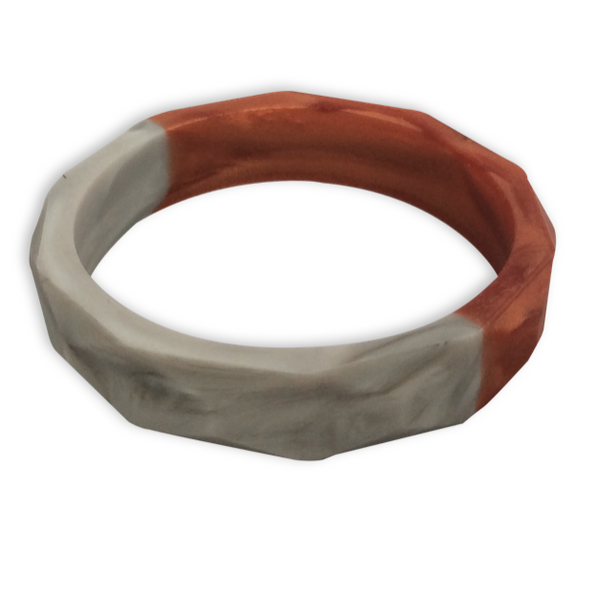 Amelia Rose Gold + Marble Teething Bangle- Factory Second Teething Bangle- Mama + Belle