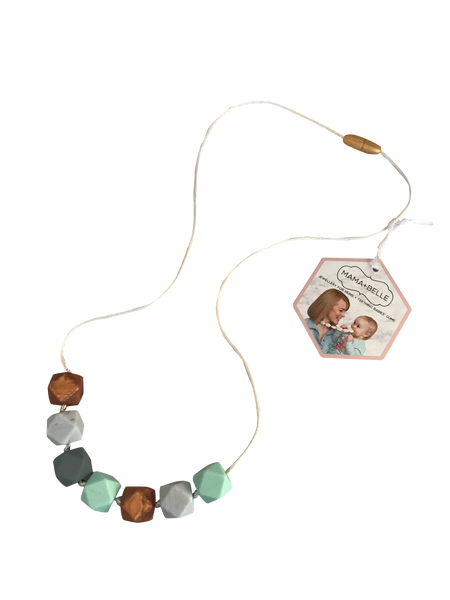 Aurora Mint Teething Necklace Teething Necklace- Mama + Belle