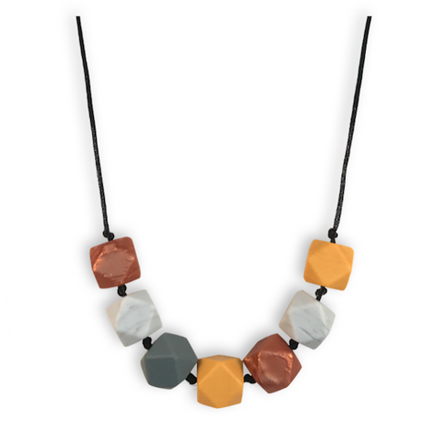 Aurora Mustard Teething Necklace Teething Necklace- Mama + Belle