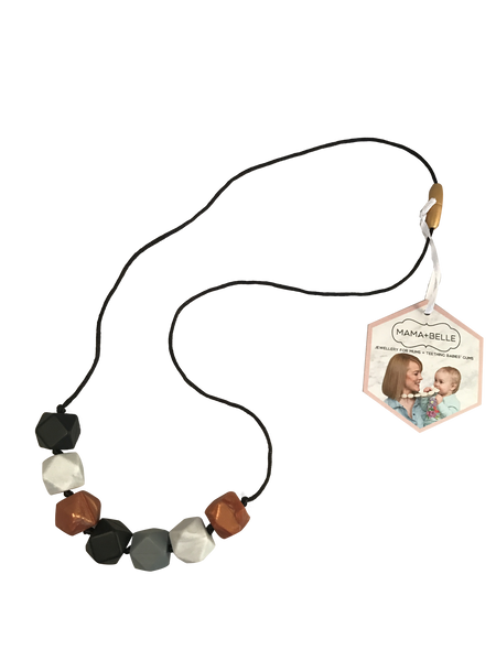 Aurora Onyx Teething Necklace Teething Necklace- Mama + Belle