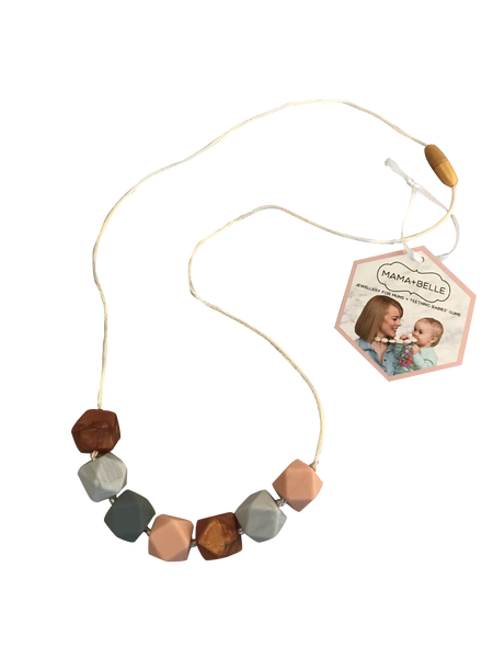 Aurora Quartz Teething Necklace Teething Necklace- Mama + Belle
