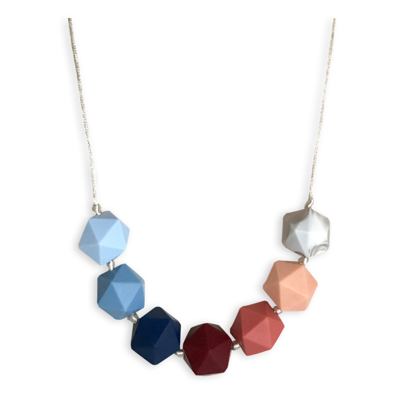 Ava Bluebell + Blush Teething Necklace Teething Necklace- Mama + Belle