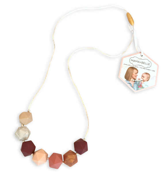 Ava Ruby Port Teething Necklace Teething Necklace- Mama + Belle