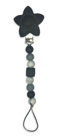 Dummy / Teething Clip Black + Marble Dummy/ Teether Clip- Mama + Belle