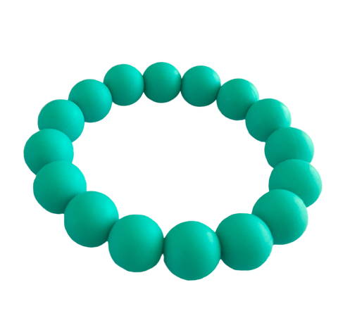 Evie Turquoise Teething Bracelet Teething Bangle- Mama + Belle