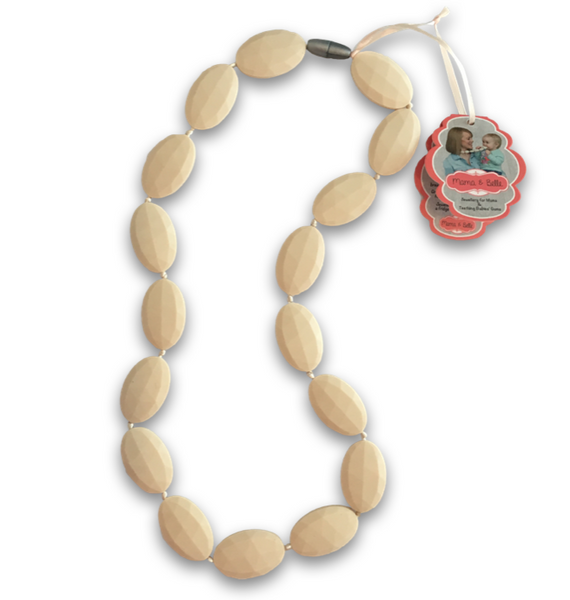 Juliette Cream Teething Necklace Teething Necklace- Mama + Belle