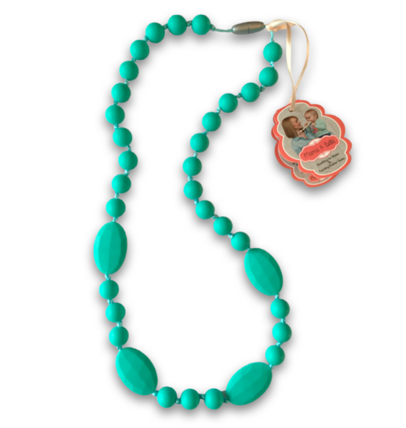 Lilly Turquoise Teething Necklace Teething Necklace- Mama + Belle