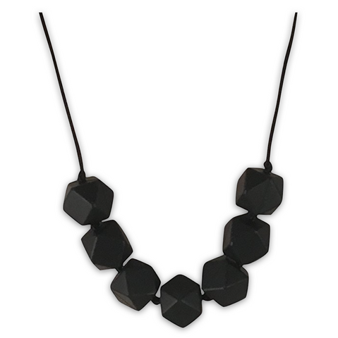 Sophia Black Teething Necklace Teething Necklace- Mama + Belle
