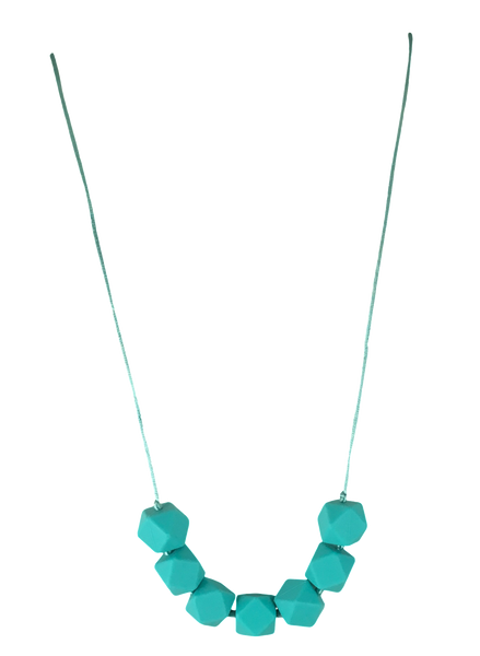 Sophia Turquoise Teething Necklace Teething Necklace- Mama + Belle