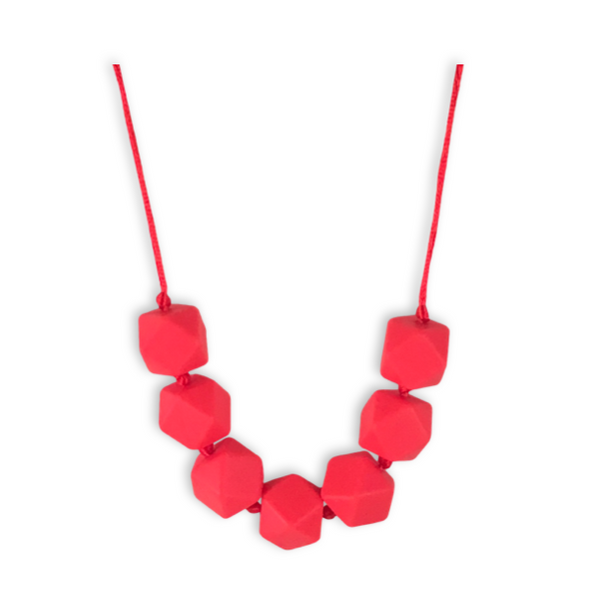 Sophia Coral Teething Necklace Teething Necklace- Mama + Belle