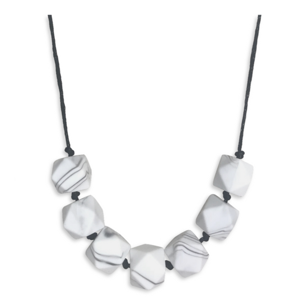 Sophia Marble Teething Necklace Teething Necklace- Mama + Belle