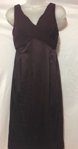 Adrianna Papell Burgundy V-neck Sheath Dress Size 6