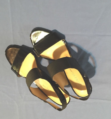 Antonio Melani Black Heeled Sandals Size 8.5M
