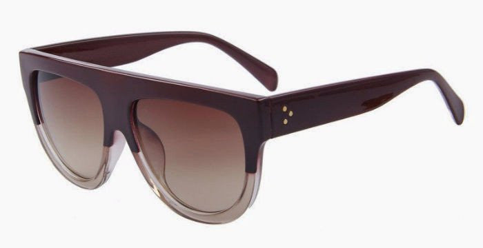 Classic Oversized Sunglasses (Brown/Red)