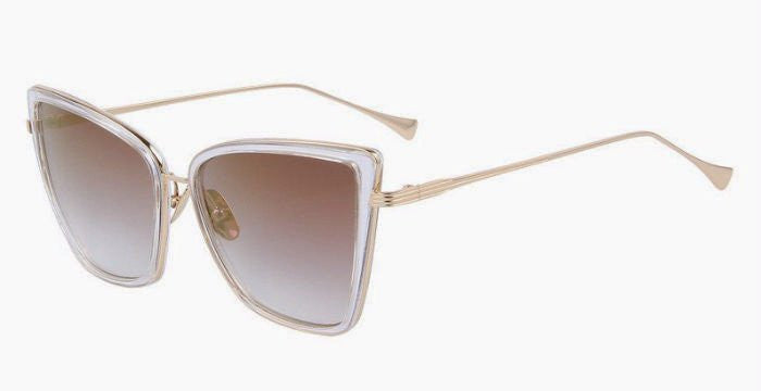 Cat Eye Mirror Sunglasses (Light Brown)