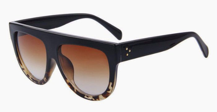 Classic Oversized Sunglasses (Black/Tortoise Shell)