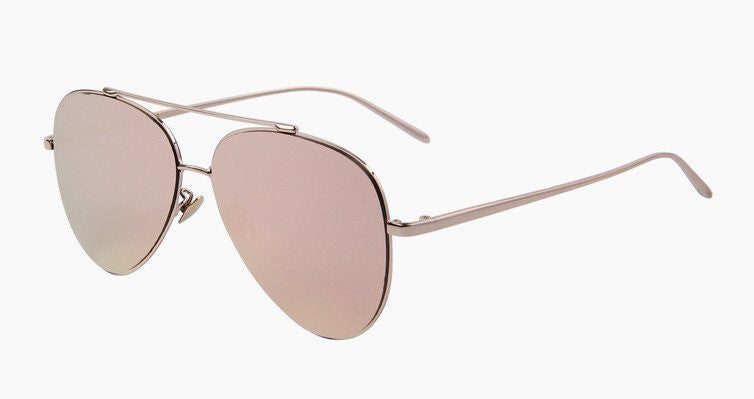 Classic Mirrored Sunglasses (Pink)