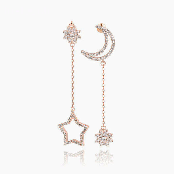 Moon and Stars Drop Earrings