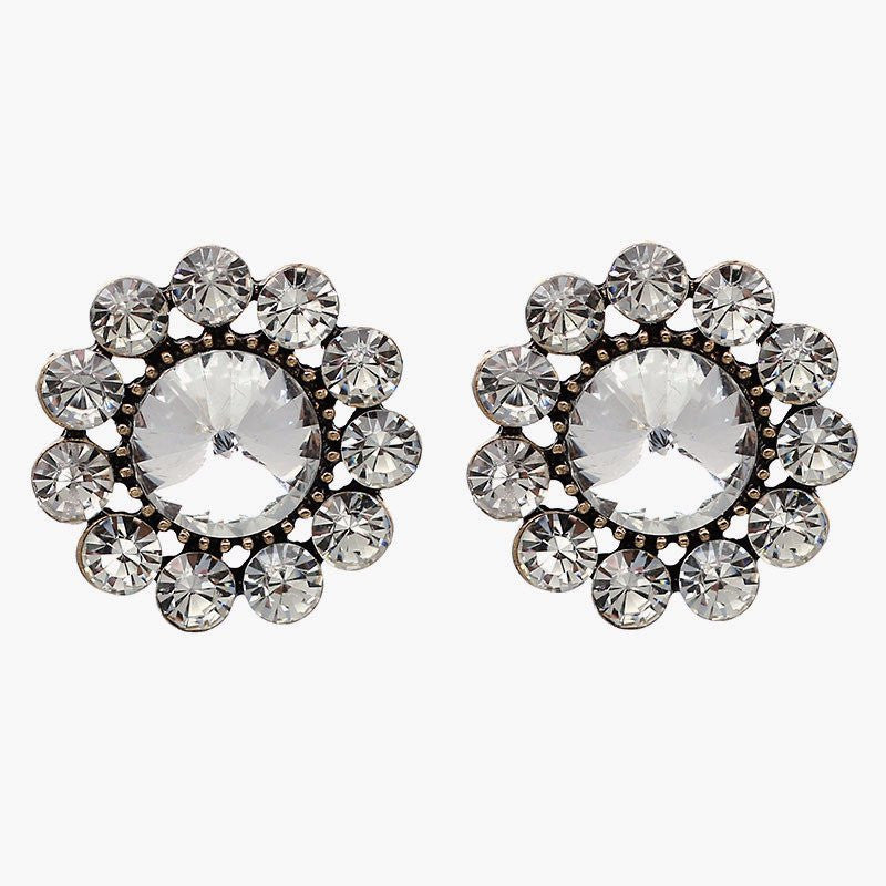 Statement Crystal Earrings-AUDREY PAMELA