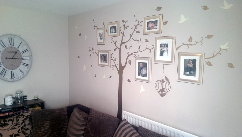 Bespoke Family Tree Wall Sticker - installed
