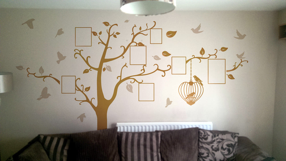 Designed family tree wall sticker