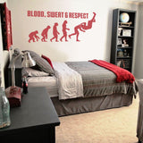 Blood Sweat & Respect Wrestling Wall Sticker