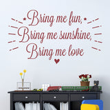 Bring Me Fun Wall Sticker