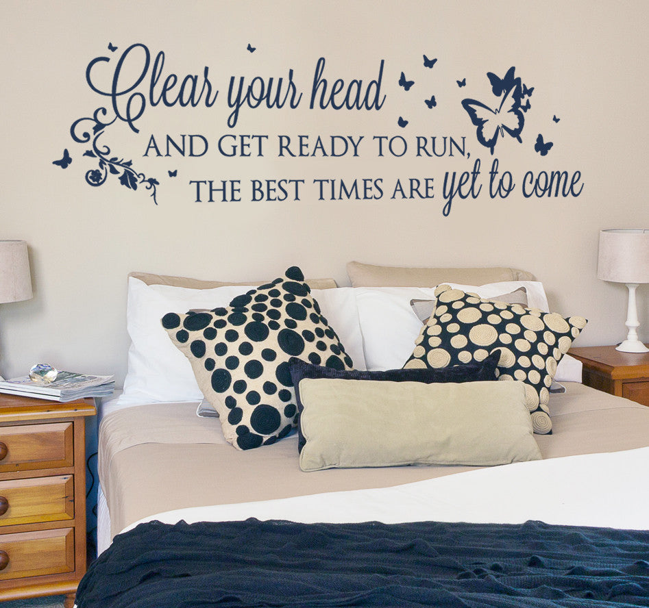 Clear Your Head And Get Ready to Run Wall Sticker