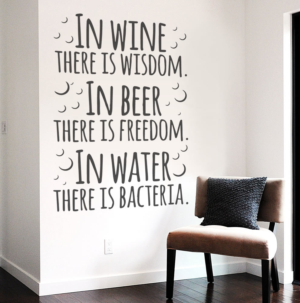In Wine there is Wisdom Wall Sticker