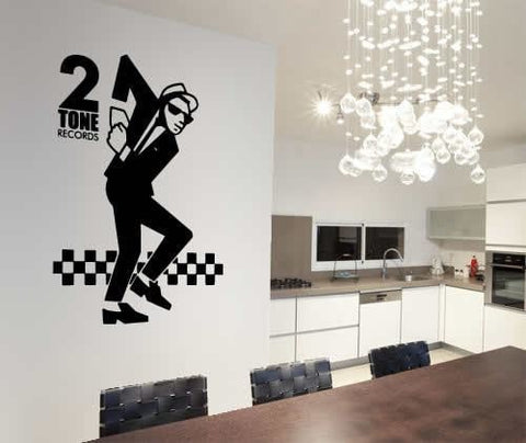 2 Tone - Dancer Wall Sticker - Wall Chick
