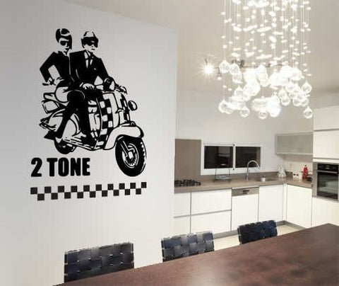 2 Tone - Vespa Wall Sticker - Wall Chick