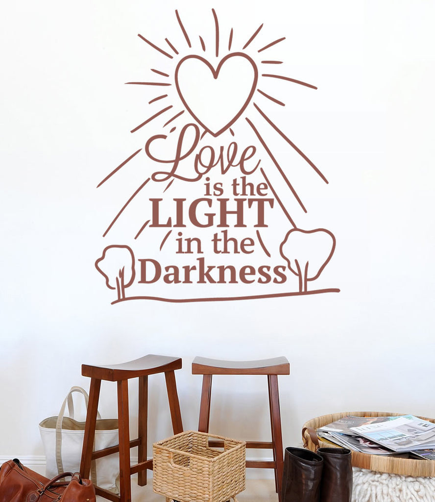 Love Is The Light In The Darkness Wall Sticker