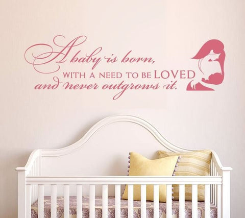 A Baby is Born Wall Sticker - Wall Chick