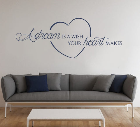 A Dream is a Wish Wall Sticker - Wall Chick