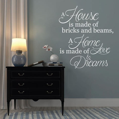 A House is Made of Bricks and Beams Wall Sticker - Wall Chick