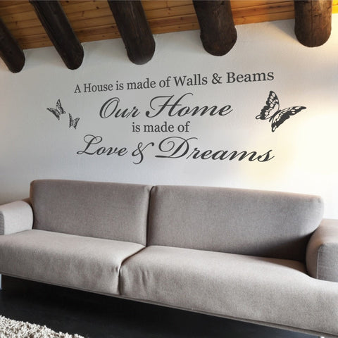 A House is Made of Walls & Beams Wall Sticker - Wall Chick