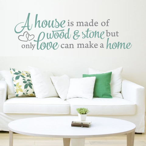 A House is Made of Wall Sticker - Wall Chick
