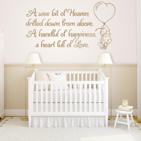 A Wee Bit Of Heaven Wall Sticker - Wall Chick
