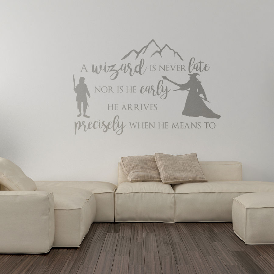 A Wizard is Never Late Wall Sticker