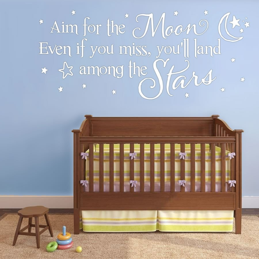 Aim For The Moon Wall Sticker Wall Sticker - Wall Chick