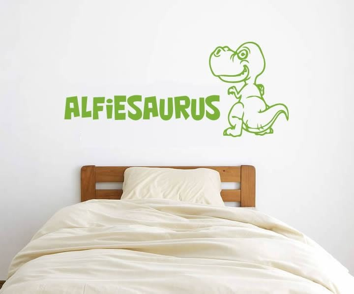 Dino with Name Wall Sticker - Wall Chick